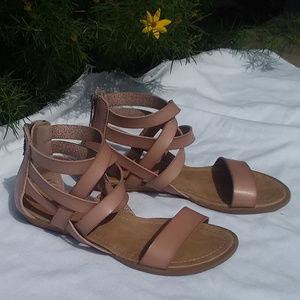 BLOWFISH KIDS tan gladiator sandals
